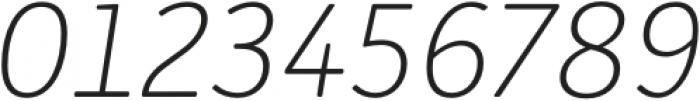Submariner R24 Extra Light Italic otf (200) Font OTHER CHARS