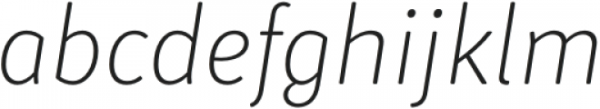 Submariner R24 Extra Light Italic otf (200) Font LOWERCASE