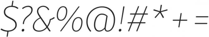 Submariner R24 Thin Italic otf (100) Font OTHER CHARS