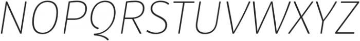 Submariner R24 Thin Italic otf (100) Font UPPERCASE