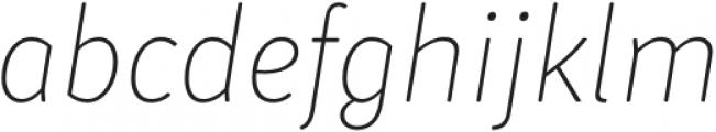 Submariner R24 Thin Italic otf (100) Font LOWERCASE
