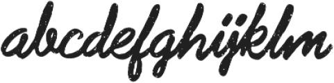 Subroc Regular otf (400) Font LOWERCASE