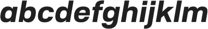 Substance ExtraBold Italic otf (700) Font LOWERCASE