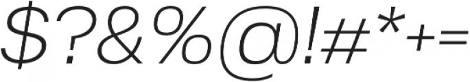 Substance ExtraLight Italic otf (200) Font OTHER CHARS