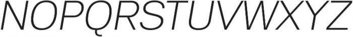 Substance ExtraLight Italic otf (200) Font UPPERCASE