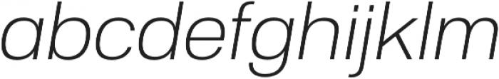 Substance ExtraLight Italic otf (200) Font LOWERCASE