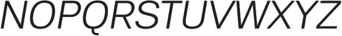 Substance Light Italic otf (300) Font UPPERCASE