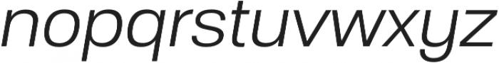Substance Light Italic otf (300) Font LOWERCASE