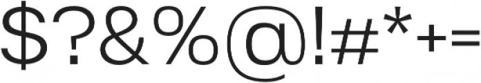Substance Light otf (300) Font OTHER CHARS