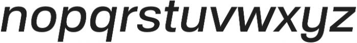Substance Medium Italic otf (500) Font LOWERCASE