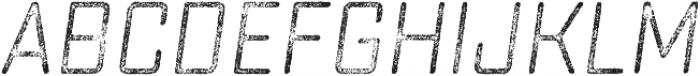 Sucrose Slant Four otf (400) Font LOWERCASE