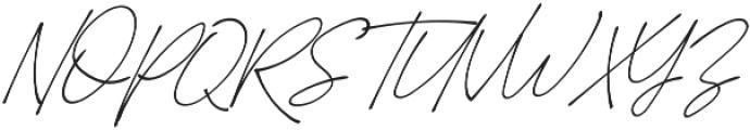 Suddenly Italic otf (400) Font UPPERCASE