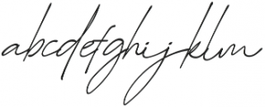 Suddenly Italic otf (400) Font LOWERCASE