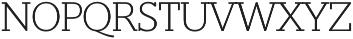 Suez ExtraLight otf (200) Font UPPERCASE