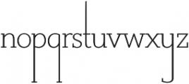 Suez ExtraLight otf (200) Font LOWERCASE