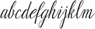 Suhainora Regular otf (400) Font LOWERCASE