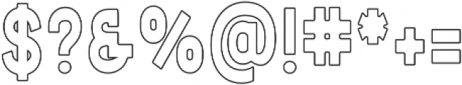 Summer Escape Outline otf (400) Font OTHER CHARS