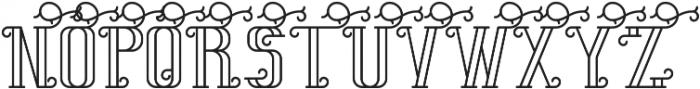 SummerTimeFont Outline otf (400) Font UPPERCASE