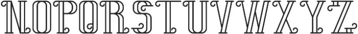 SummerTimeFont Outline otf (400) Font LOWERCASE
