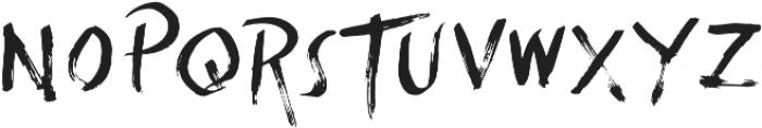 Summertime Brush otf (400) Font UPPERCASE