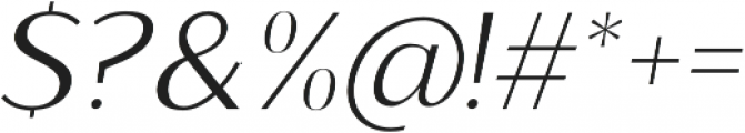 Sumptuous Light Italic otf (300) Font OTHER CHARS