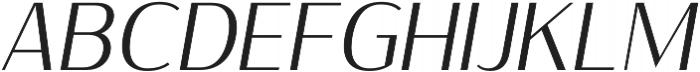 Sumptuous Light Italic otf (300) Font UPPERCASE