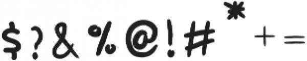 Sunbay-Brush Regular otf (400) Font OTHER CHARS
