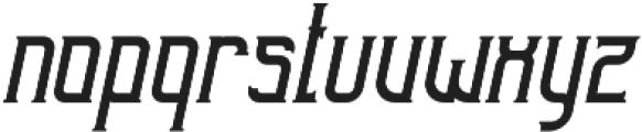 Sunblast Tall Slanted otf (400) Font LOWERCASE