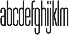 Sunblock Pro ExCond Light otf (300) Font LOWERCASE