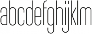 Sunblock Pro SemiCond Thin otf (100) Font LOWERCASE