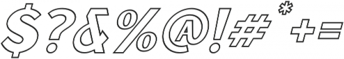 Sunborn Sans One Outline Slant otf (400) Font OTHER CHARS