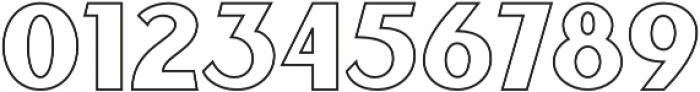 Sunborn Sans One Outline otf (400) Font OTHER CHARS