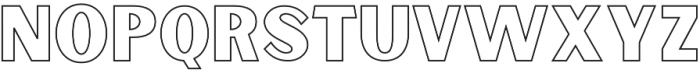 Sunborn Sans One Outline otf (400) Font UPPERCASE