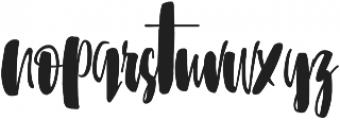 Sunbreath otf (400) Font LOWERCASE