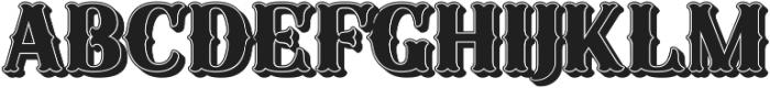 Sunday Best Fancy Shadow 3D ttf (400) Font LOWERCASE