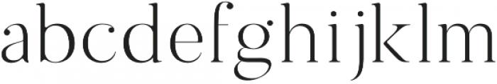 Sundays Regular otf (400) Font LOWERCASE