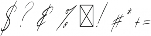 Sunlight Italic otf (300) Font OTHER CHARS
