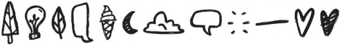 Sunrise Doodles Regular otf (400) Font LOWERCASE