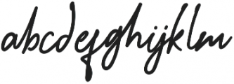 Sunshine Regular otf (400) Font LOWERCASE