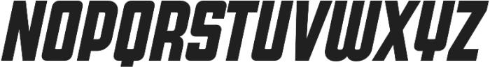 Super Deluxe Compressed Bold Italic otf (700) Font UPPERCASE