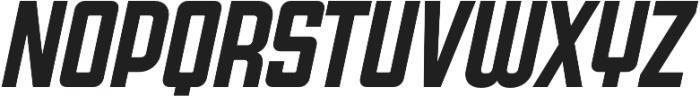 Super Deluxe Compressed Semibold Italic otf (600) Font UPPERCASE