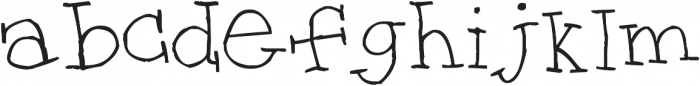Super Serifs ttf (400) Font LOWERCASE