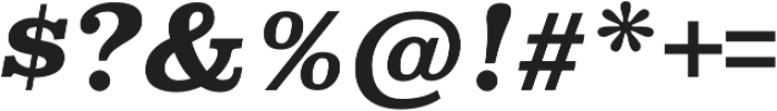 Superclarendon Bold Italic otf (700) Font OTHER CHARS