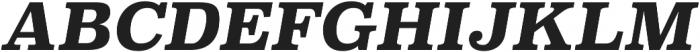Superclarendon Bold Italic otf (700) Font UPPERCASE