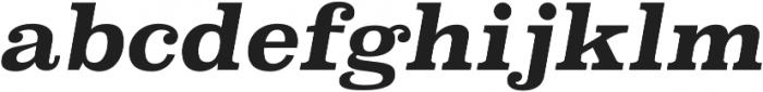 Superclarendon Bold Italic otf (700) Font LOWERCASE