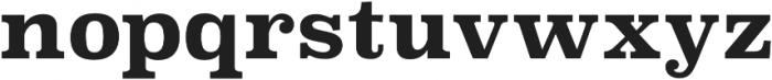 Superclarendon Bold otf (700) Font LOWERCASE