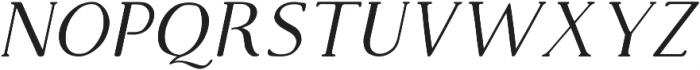 Supernova Bold Italic otf (700) Font UPPERCASE
