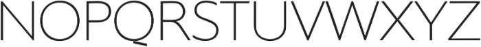 Supra Thin otf (100) Font UPPERCASE