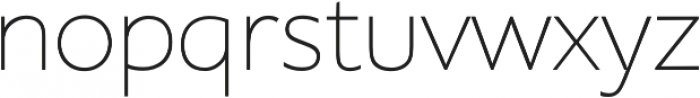 Supra Thin otf (100) Font LOWERCASE