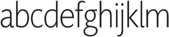 Supra XLightCondensed otf (300) Font LOWERCASE